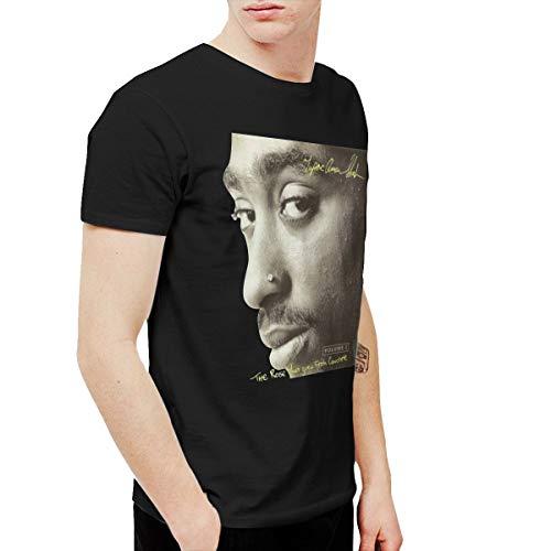 PeterF Men's Tupac Shakur The Rose That Grew from Concrete T Shirts Black XL (Tupac Ring)