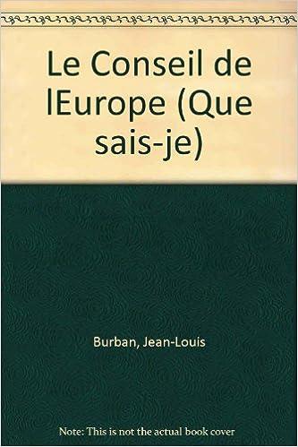 Lire un Le Conseil de l'Europe pdf