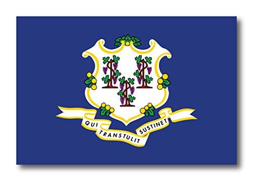 Connecticut Car Magnet US State Flag Refrigerator Locker SUV Heavy Duty Waterproof…