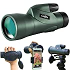Gosky 12x55 High Definition Monocular Telescope and Quick Smartphone Holder - 2018 New