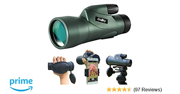 Amazon.com : gosky 12x55 high definition monocular telescope and