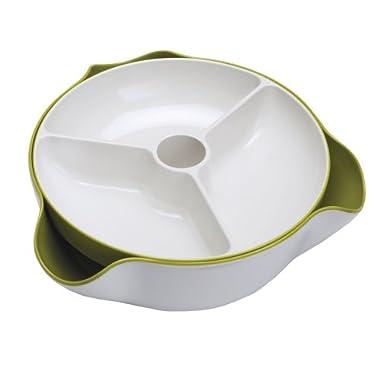 Joseph Joseph Large Double Dish, White and Green