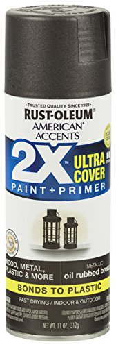- Rust-Oleum 327906 American Accents Ultra Cover 2X Metallic, Each, Oil Rubbed Bronze