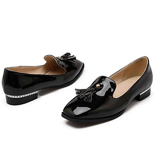 Shoes Black Melady Brogue Fashion Sizes Slip Mini PxzYtqwSY