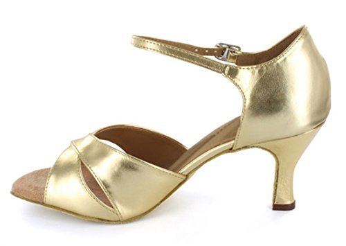Salsa Social Wedding Flared Joymod Women's Heel Sandals Dance Party Modern Heel Dance Latin Peep 5cm Ankle Gold 7 Toe Strap Shoes Ballroom MGM Tango I8xwvTdv