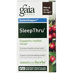 Gaia Herbs Sleep Thru Liquid Phyto-Capsules, 60 Count