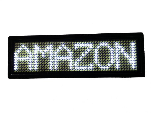 Programmable Scrolling MSD LED Name Badge (12x48 pixels) White
