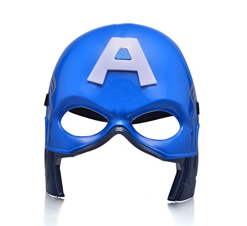 [REINDEAR Comics Costume Superhero LED Light Up Eye Mask (Captain America)] (Light Up Costumes For Adults)