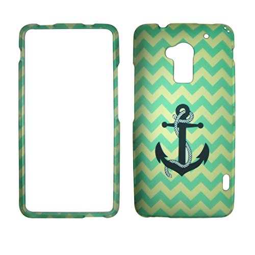 2d-aqua-chevron-anchor-htc-one-max-t6-sprint-verizon-case-cover-phone-snap-on-cover-case-faceplates