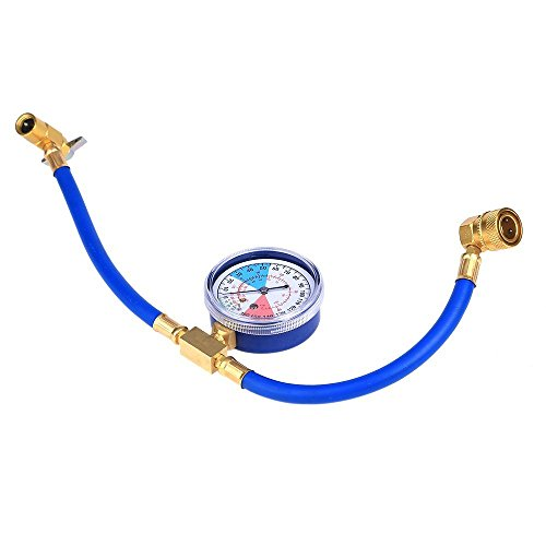 CSLU-Tool R134a AC HVAC ReCharge Measuring Refrigerant Hose Can Tap w/ Gauge System