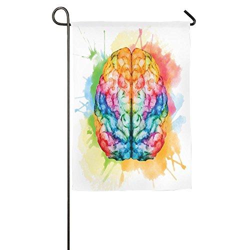 Weiheiwec 9 Vibrant Colorful Human Brain Body Neurology Hemispheres Creative Intelligence Home Flag Garden Flag Demonstrations Flag Family Party Flag Match Flag 1827inch
