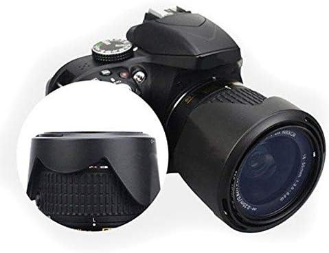 Gavita-Star Maytir HB-N106 Lens Hood Shade Black For Nikon D3300 D5300 AF-P DX NIKKOR 18-55mm f//3.5-5.6G VR Lens