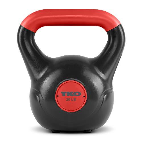 TKO Kettlebell | Dumbbell Weight, Plastic Shell, Soft Neoprene, Home Gym Workouts | Men, Women Core Fitness…