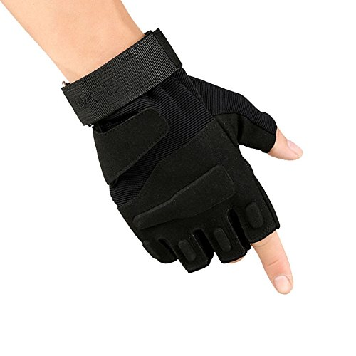 T-JULY Men Half-finger Exercise Protecting Gloves Weight Lifting Fitness Training Wrist Support Gloves