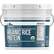 Organic Rice Protein Powder (1 Gallon Bucket 4 lbs) by Earthborn Elements, Sustainably Sourced from Sprouted Brown Rice, Vegan and Gluten-Free, Post-Workout Recovery