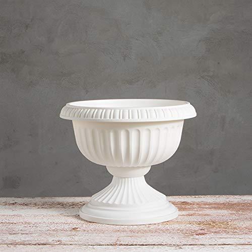 Grecian Urn Planter, White, 18-Inch