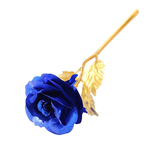 2017 New Gift!Elevin(TM)Romantic Pink 24K Gold Foil Rose Lover's Artificial Fake Birthday Flowers Home Garden Bouquet Party Decor,Creative Gift for Mo…