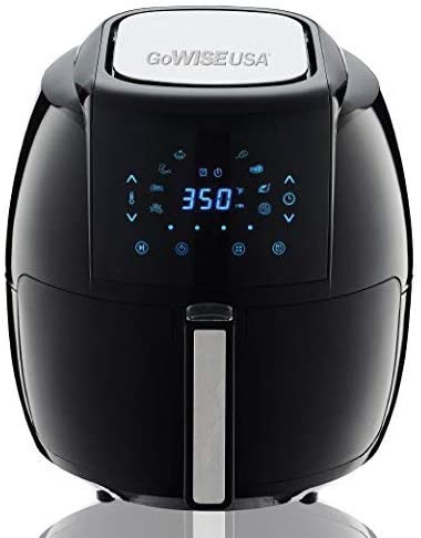 GoWISE USA 1700-Watt 5.8-QT 8-in-1 Digital Air Fryer with Recipe Book