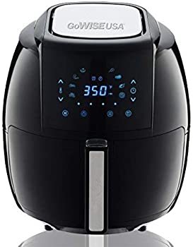GoWISE USA 1700-Watt 5.8-QT 8-in-1 Digital Air Fryer with Recipe Book.