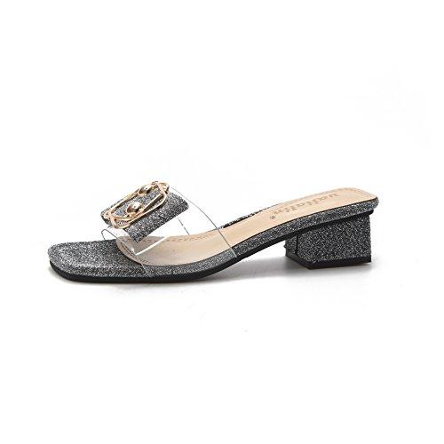 Pantofole Sono Argenteo IANGL Trasparenti e in semplici Le Estate 75SSwxq6