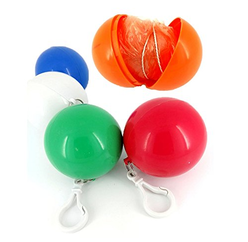 Rotersee set di 5pezzi monouso emergenza Raincoats poncho Portable Hook Ball