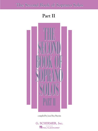 The Second Book of Soprano Solos Part II: Book Only