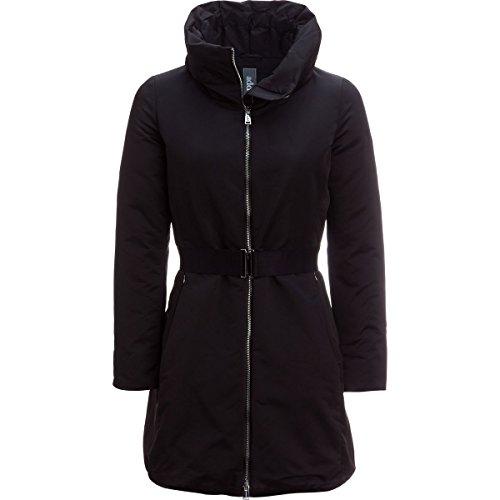 ADD Duck Down Long Satin Coat - Women's Black, - Satin Down Coat