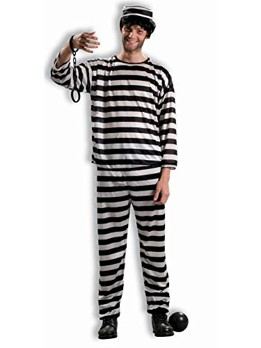 Forum Novelties Men's Prisoner Costume, Black/White, Standard -