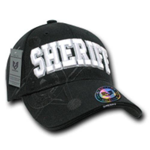 [Shadow Embroidered Sheriff Law Enforcement 100% Acrylic Baseball Cap/Hat, Comfort Fit Color: Black] (Sheriff Hats For Sale)
