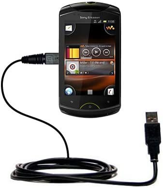 Gomadic USB Data Hot Sync Straight Cable for The Sony NWZ-W252 Headset with Charge Function Two Functions in one Unique TipExchange Enabled Cable