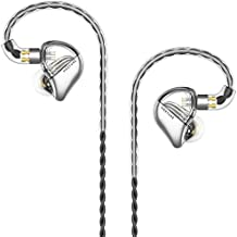 SIMGOT MT3 in-Ear HiFi Monitors Headphones with Detachable Cables, Studio Stereo Music Earphones, Dynamic Balanced Earbuds, Cell Phone Music Player Ear Buds Headset (Transparent)
