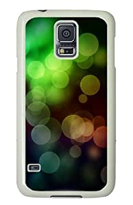 Samsung Galaxy S5 Case Cover - Cool Colors Bokeh Hard Case Cover For Samsung Galaxy S5 - PC White
