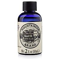 Aceite para barba de la marca Mountaineer, WV Timber, perfumado con madera de cedro y aguja de abeto, aceite acondicionador, botella de 2 oz