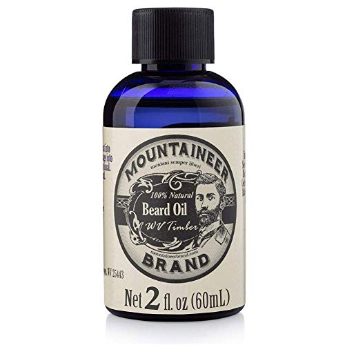 (Beard Oil by Mountaineer Brand, WV Timber, Scented with Cedarwood and Fir Needle, Conditioning Oil, 2 oz bottle)