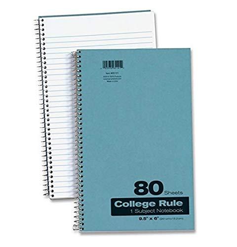 (6) Oxford 1-Subject Pressboard Notebook, 9.5