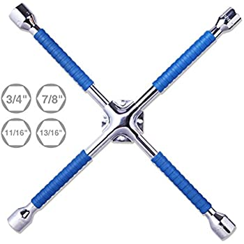 cartman 18 universal anti slip lug wrench cross wrench