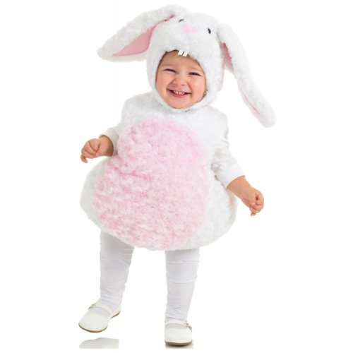 [Underwraps Baby's Rabbit Belly-Babies, White/Pink, Medium] (Halloween Costumes Rabbit)