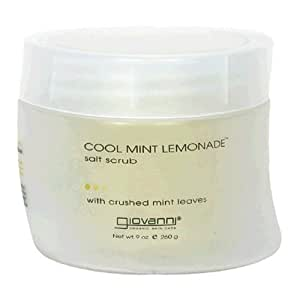 Giovanni Salt Scrub, Cool Mint Lemonade, 9 oz (260 g) (Pack of 2)