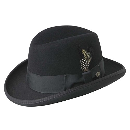 Bailey of Hollywood Men Godfather Homburg Black L
