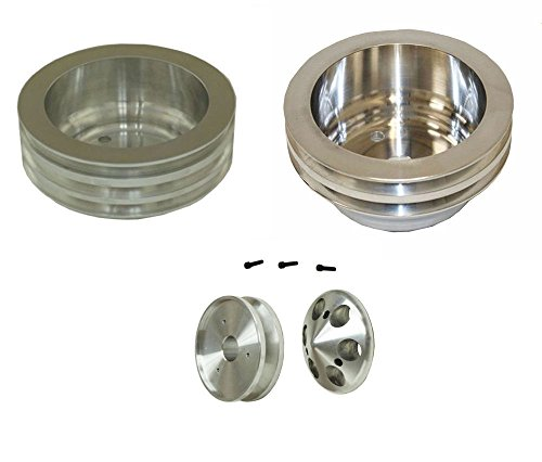Aluminum Pulley Kit For Chevy Small Block V-Belt 350 LWP