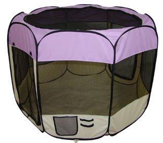 Purple Pet Dog Cat Tent Puppy Playpen Exercise Pen M