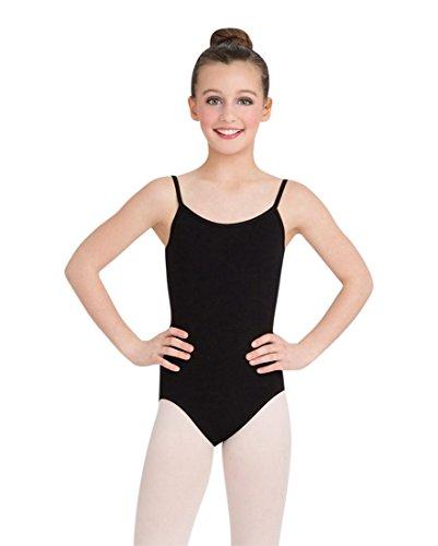 Capezio Big Girls' Classics Camisole Leotard with Adjustable Straps, Black, Large