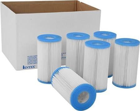 6-Pack Intex 59905E Type B Pool Filter Cartridge