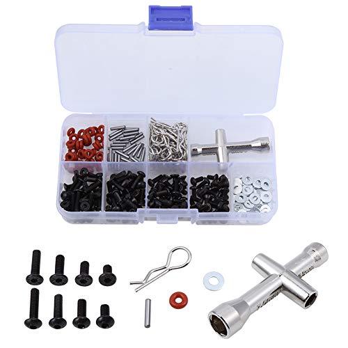 RC Car Screws Kit Repair Tools Set Hardware Fasteners Box for 1/8 1/10 RC Car (240pcs/lot)