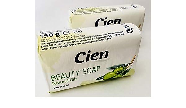2 unidades - Cien Beauty Soap Milk & hoeny or Natural Oils - Jabón con miel, leche y almendra aceite o con aceitunas aceite - With Honey, Milk & Almond Oil ...