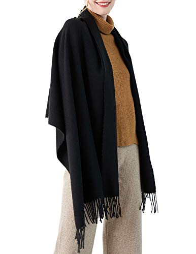CARESEEN Solid Large Soft Pashmina Scarf Cashmere Feel Shawls Wrap Stole Warm Winter Scarves