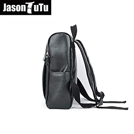 Amazon.com: Men Canvas Backpack Large Size Student 14 inch Laptop JASONTUTU Brand Design Pu Leather Black B06: Kitchen & Dining