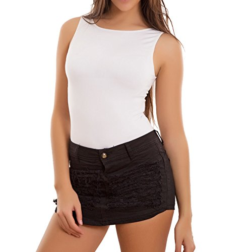 Skinny Sexy Minigonna Mini Pant Nero Hot Donna Pantaloncini Toocool Shorts Strappi Nuovi H436 wWHBaapXq