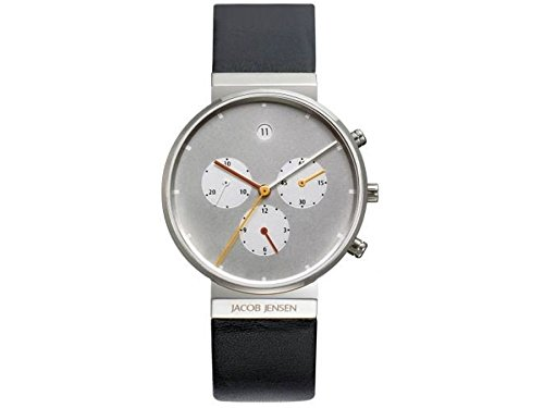 Jacob Jensen 606 Mens Chronograph Silver Watch