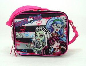 f11274cc631b Black and White Stripe Monster High Lunch Bag - Monster High Lunch Box